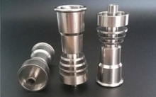 titanium nail,with male and female joint 14&19 domeless sprial